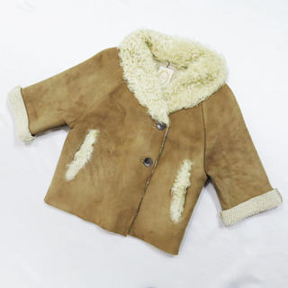 カージュ(Khaju)のKhaju カージュ リアル ムートン ショート コート ジャケット 羊革(ムートンコート)