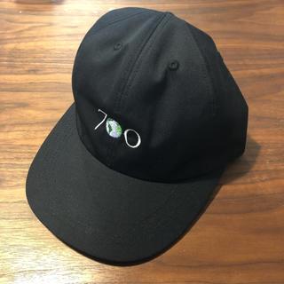ワンエルディーケーセレクト(1LDK SELECT)の700fill earth logo cap 6 panel ブラック(キャップ)