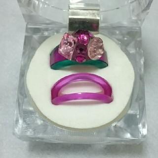 アッシュアンドダイアモンド(ASH&DIAMONDS)のASH&DIAMONDS スイッチリング スワロフスキー(リング(指輪))