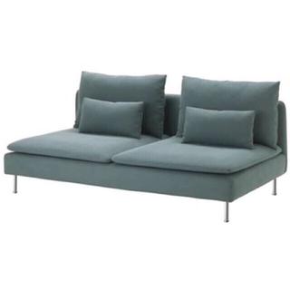 イケア(IKEA)のIKEAソーデルファムン 3人掛けソファ(ターコイズブルー)(三人掛けソファ)