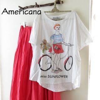 アメリカーナ(AMERICANA)のAmericana アメリカーナ Tシャツ(Tシャツ(半袖/袖なし))