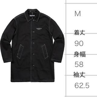 シュプリーム(Supreme)のSupreme 18ss Washed Work Trench Coat M 黒(トレンチコート)