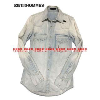 ゴーサンゴーイチプールオム(5351 POUR LES HOMMES)の5351 POUR LES HOMMES リアルヴィンテージデニムシャツ(シャツ)