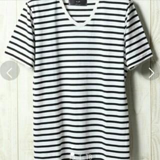 ダブルジェーケー(wjk)のwjk HARE ボーダーVネックカットソー(Tシャツ/カットソー(半袖/袖なし))
