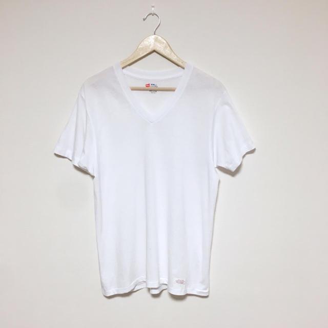 DELUXE(デラックス)の【メンズ】DELUXE × Hanes V NECK TEE 2枚セット メンズのトップス(Tシャツ/カットソー(半袖/袖なし))の商品写真