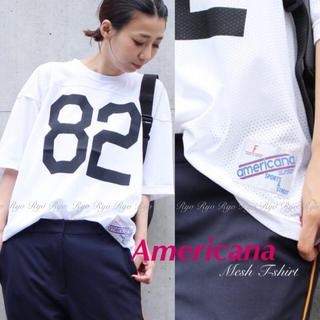 アメリカーナ(AMERICANA)の18SS★新品同様⭐️アメリカーナ/メッシュTシャツ/ドゥーズィエムクラス(Tシャツ(半袖/袖なし))