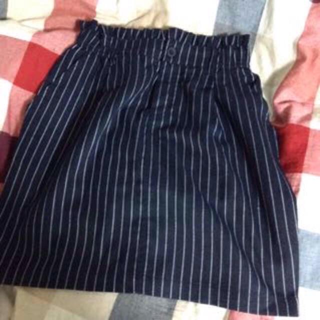 one after another NICE CLAUP(ワンアフターアナザーナイスクラップ)のピンストライプタイトスカート レディースのスカート(ミニスカート)の商品写真