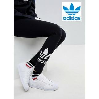アディダス(adidas)の【 XLサイズ】新品タグ付 adidas レギンス  アディダス ロゴ ブラック(レギンス/スパッツ)