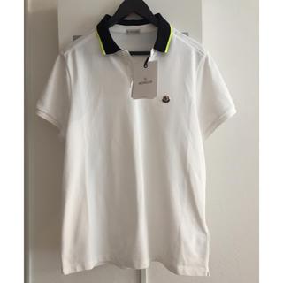 モンクレール(MONCLER)の新品 正規 18ss モンクレール ポロシャツ L ロゴ 未使用 タグ付き(ポロシャツ)