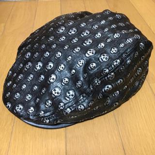 ハンチング/スカル柄×シルバー(ハンチング/ベレー帽)