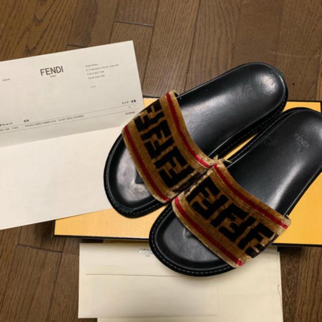 FENDI(フェンディ)の fendi サンダル マルチカラー ファブリック レディースの靴/シューズ(サンダル)の商品写真
