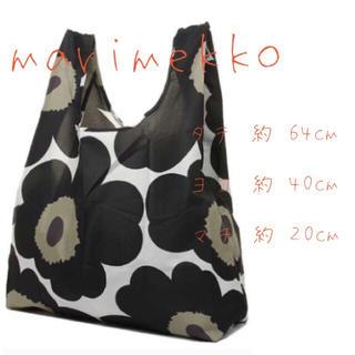 marimekko - 新品 未使用 タグ付 marimekko マリメッコ エコバッグ ブラック 花柄