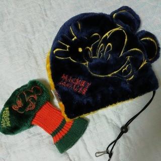 ディズニー(Disney)のミッキーマウス ゴルフヘッドカバーセット アイアンカバー&パターカバー (その他)