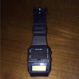ビームス(BEAMS)のビームス トーキングウォッチ オリジナル版 ネイビー(腕時計(デジタル))