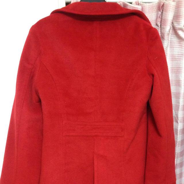赤コート レディースのジャケット/アウター(ピーコート)の商品写真