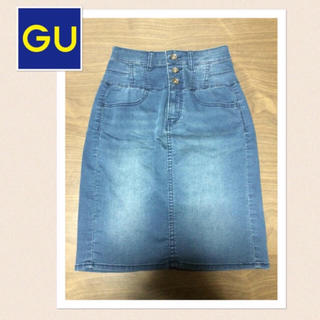 GU - 新品★GU ハイウエストデニムタイトスカート