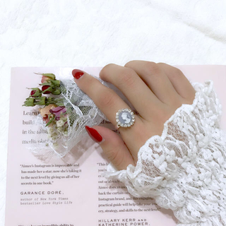 blue cameo ring(リング)