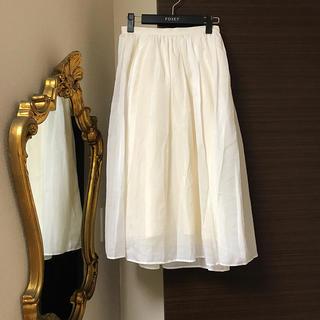 アーバンリサーチロッソ(URBAN RESEARCH ROSSO)のオフホワイト チュールスカート(ロングスカート)