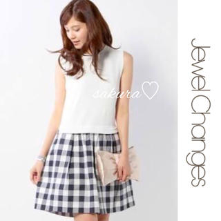 ジュエルチェンジズ(Jewel Changes)の美品♡Jewel Changes 2015SS ドッキングワンピース♡(ひざ丈ワンピース)