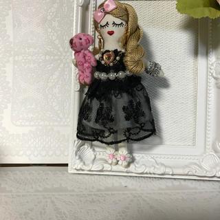 ルルベちゃんバックチャームドール   黒ドレス(バッグチャーム)