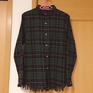 プニュズ(PUNYUS)のPUNYUS ダメージチェックシャツ ネルシャツ(シャツ/ブラウス(長袖/七分))