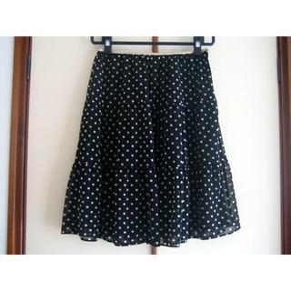 アクアガール(aquagirl)のCROLLA クローラ ドットスカート 38サイズ アクアガール(ひざ丈スカート)