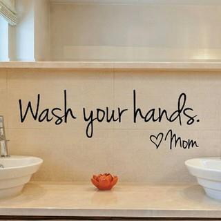 ⭐サマーセール⭐手洗い促進ステッカー☆✨Wash your hands mom✨