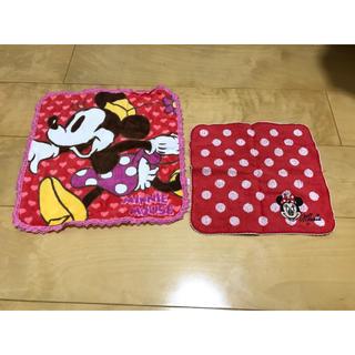 ディズニー(Disney)のミニーちゃん ハンカチ 2枚セット(ハンカチ)