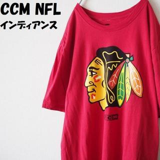 シーシーエム(CCM)の【人気】CCM NHL インディアンス ビッグプリントTシャツワインレッド(Tシャツ/カットソー(半袖/袖なし))