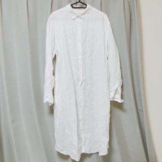 MUJI (無印良品) - 【無印良品】フレンチリネン洗いざらしシャツワンピース/Lサイズ