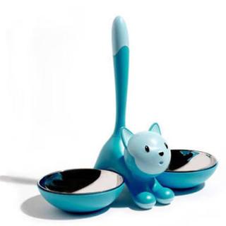 ALESSI - ALESSI キャット フード ウォーター ボウル 猫 ペット 水色