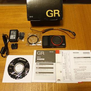 リコー(RICOH)のRICOH GRII レッドリング その他おまけ付き リコー(コンパクトデジタルカメラ)