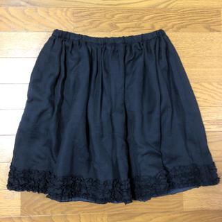 アクアガール(aquagirl)の【中古】アクアガール 黒スカート(ひざ丈スカート)