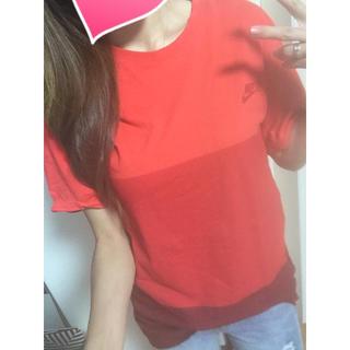 ナイキ(NIKE)のナイキ♡メンズ♡ボーダー♡グラデーションデザイン♡ロゴTシャツ♡(Tシャツ(半袖/袖なし))