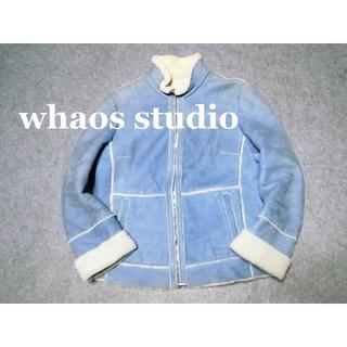 whaos studio☆イタリア製ムートンライダースジャケット/コート(ムートンコート)