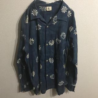 フォーティーファイブアールピーエム(45rpm)の45rpm インディゴ染めオープンカラーシャツ  M  (シャツ)