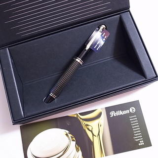 Pelikan - 【新品】ペリカン 特別生産品 万年筆 M815 メタルストライプ ニブEF
