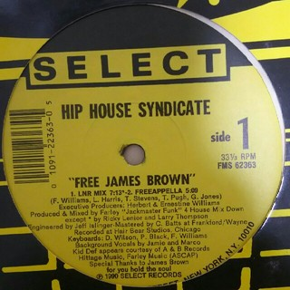 HIP HOUSE SYNDICATE/FREE JAMES BROWN(クラブ/ダンス)