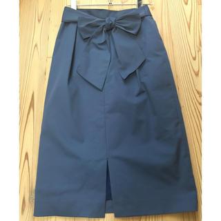 Soffitto ソフィット リボン ベルト スカート 前スリット 手洗い可