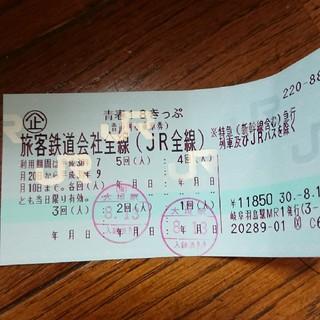 ジェイアール(JR)の青春18きっぷ(25日まで専用です。)(鉄道乗車券)