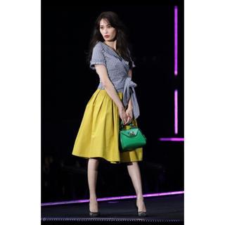 アンドクチュール(And Couture)のアンドクチュール フレアスカート イエロー サイズS (ひざ丈スカート)