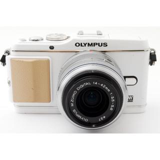オリンパス(OLYMPUS)の❤️スマホにらくらく送れる❤️オリンパス E-P3 レンズキット(ミラーレス一眼)