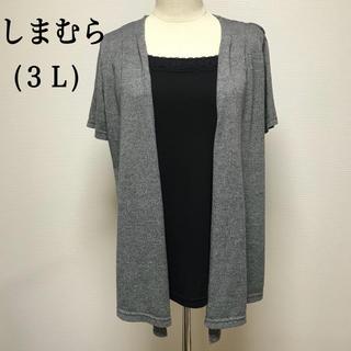 シマムラ(しまむら)の80.【しまむら】重ね着風トップス(3L)(カットソー(半袖/袖なし))