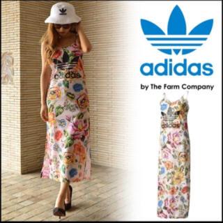 アディダス(adidas)のアディダスオリジナルス 花柄ワンピース⭐️お値下げ不可 ラスト①(ロングワンピース/マキシワンピース)