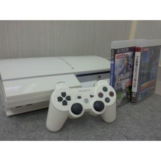 SONY - 【送料無料】 PS3 本体 コントローラー セット ホワイト
