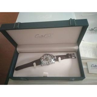 ガガミラノ(GaGa MILANO)のガガミラノ 腕時計 マニュアーレ マヌアーレ 48mm ブラウンレザー(腕時計(デジタル))