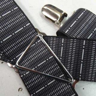 日本縫製 サスペンダー メンズ 紳士 ゴム インポート バーコードライン(サスペンダー)