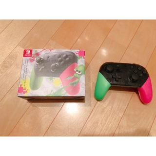 ニンテンドースイッチ(Nintendo Switch)の【美品】Nintendo Switch Proコントローラー スプラトゥーン2(家庭用ゲーム本体)