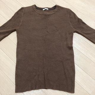 ジーユー(GU)の五分袖リブニット(ニット/セーター)