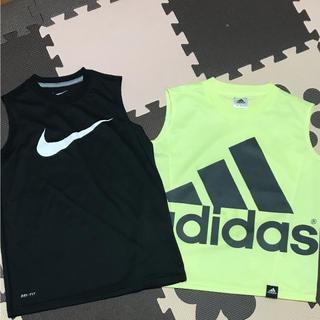 ナイキ(NIKE)の美品 NIKE adidas タンクトップ 130 DRI-FIT(Tシャツ/カットソー)